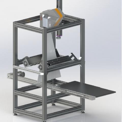 Pushbroom Table Type Scanner for Hyperspectral Imaging
